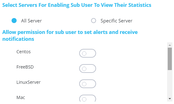 Subuser Servers